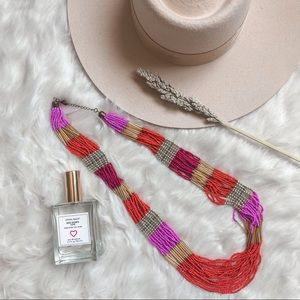 Jewelry - Layered Beaded Color Block Statement Necklace